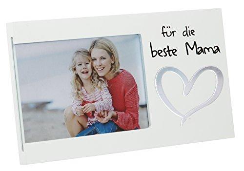 CEPAWA Marco para la Mejor Mama para Fotos 10x 15cm, Color Blanco