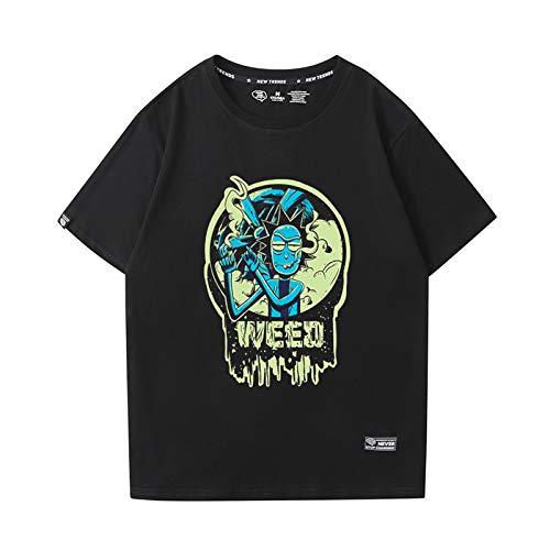 GRTBNH Camiseta Hombre Manga Corta Cuello Redondo, Rick y Morty Estampado Unisex Camisetas Casuales Tops,Style 4,XXL