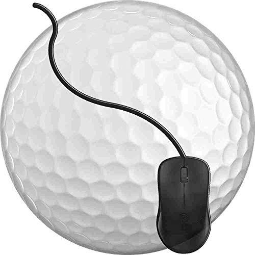 Gaming Mauspad Runde Golfball, Oberfläche verbessert Geschwindigkeit und Präzision rutschfest Mouse Pad Img164