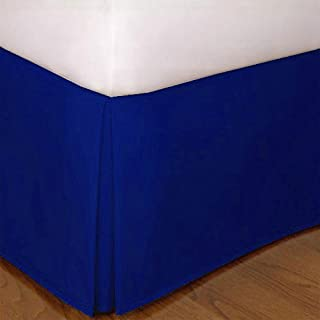 Queen Size Mk Collection Solid Pleated Bed Skirt with 14