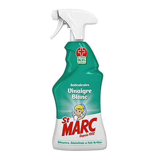 St Marc Pistolet Spray Désinfectant et Nettoyant Anticalcaire au Vinaigre Blanc 500 ml