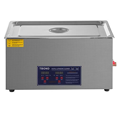 SHZOND Ultrasonic Cleaner 7.93Gal / 30L Stainless Steel Heated Ultrasonic Cleaner 600W Ultrasonic Power Ultrasonic Jewelry Cleaner with Digital Temperature and Timer (7.93Gal / 30L)