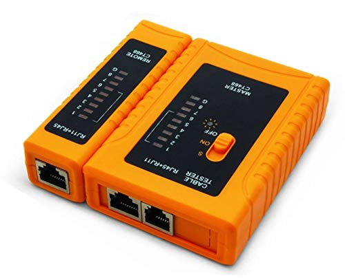 iMBAPrice - RJ45 Network Cable Tester for Lan Phone RJ45/RJ11/RJ12/CAT5/CAT6/CAT7 UTP Wire Test Tool