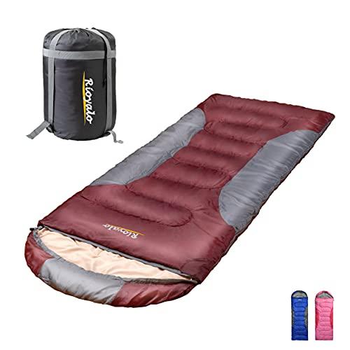 0 Degree Winter Sleeping Bags for adults camping (450GSM) -Temp Range (5F – 32F) Portable Waterproof Compression Sack- Camping Sleeping Bags for Big and Tall in Env Hoodie: Hiking backpacking 4 Season