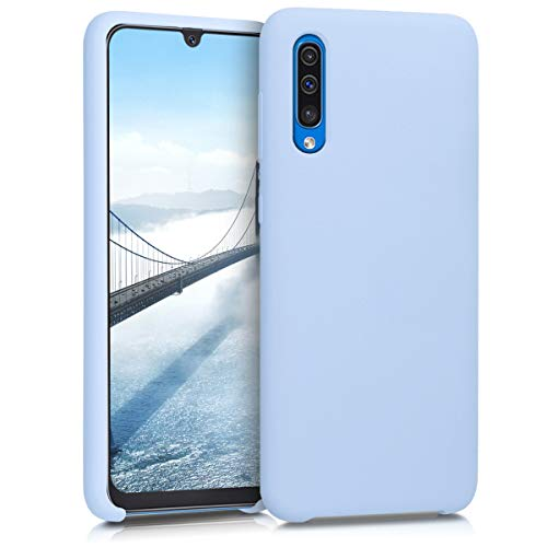 kwmobile Hülle kompatibel mit Samsung Galaxy A50 - Handyhülle gummiert - Handy Hülle in Hellblau matt