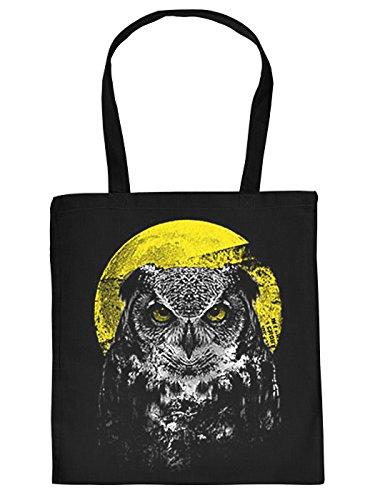 Mega Coole Baumwolltaschen mit leucht Tier Motiv Stofftasche Night Owl Geschenkidee gut verpackt witzige Geschenkverpackung Animal