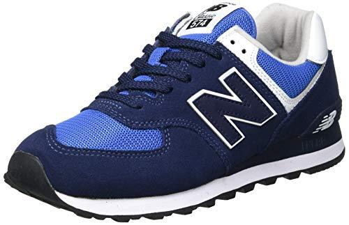 New Balance Herren ML574SSM Sneaker, Marine Blau Weiß, 42.5 EU