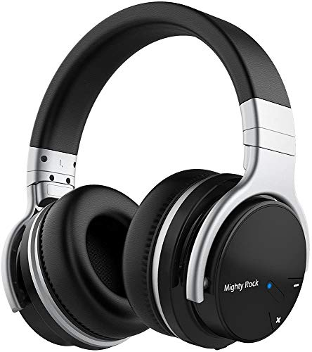 Meidong E7C Active Noise Cancelling Headphones Bluetooth Headphones Over Ear Wireless Headphones with Microphone Hi-Fi Deep Bass Stereo Sound and 30H Playtime for Travel/Work/TV