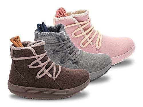 WalkMaxx Comfort Ankle Boots LACE (Konzept und Design der abgerundeten Sohle Original Abgerundete Sohle) Pink 42