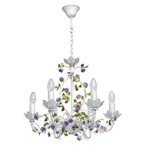 MW-Light Kronleuchter und Wandleuchte Grün Weiß Metall Floral Rustikalen Stil Design Wohnzimmer Schlafzimmer