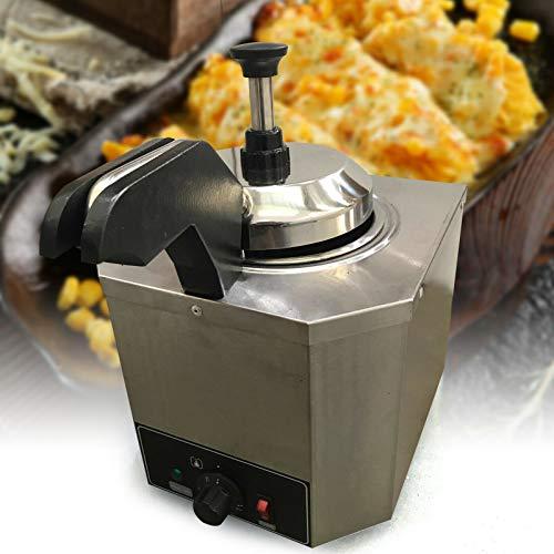 Dispensador de salsa de acero inoxidable de 2,5 l, cabezal único, 650 W, 220 V, para relleno de nata, chili, fudge, postqueso, mantequilla de caramelo