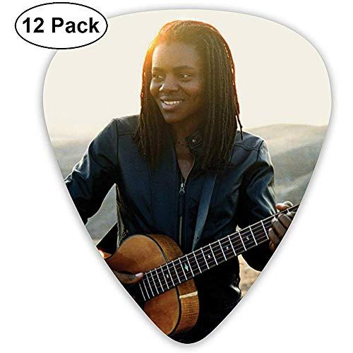Sherly Yard Tracy Chapman Klassische, coole, mittelgroße Plektren für Gitarre, Akustikgitarre, Mandoline und Bassgitarre (ABS 12er Pack, 3 Spezifikationen)