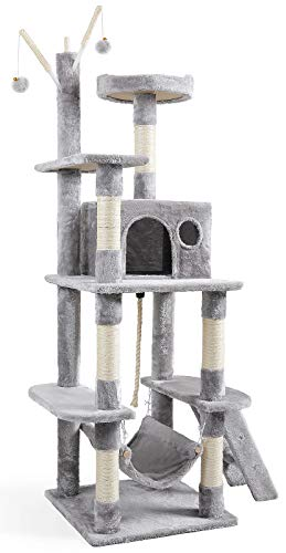 JOYO Cat Tree, 58' Cat Tower Multi-Level Cat Activity Tree...