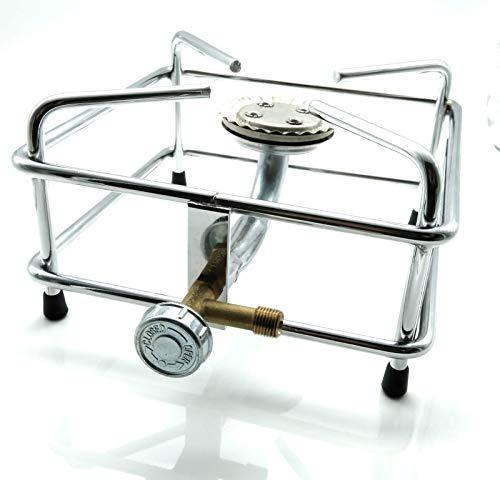 Hockerkocher aus Chrom/Edelstahl, Grösse:6.0 kW