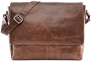 LEABAGS Acapulco genuine buffalo leather messenger bag in vintage style