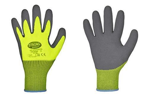 Latexhandschuhe Flexter von Stronghand Arbeitshandschuh Größe 7-11 Viel Grip (10/XL)