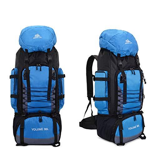 WZNB Outdoor Klettertasche 90L große Kapazität Reiserucksack wasserdicht Gepäck Rucksack Camping Zelt Rucksack