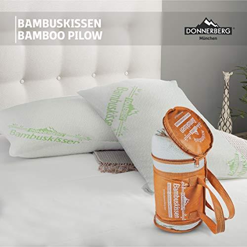 Donnerberg Bambuskissen | Orthopädisches Nackenstützkissen | Kopfkissen | Schlafkissen | Stützkissen
