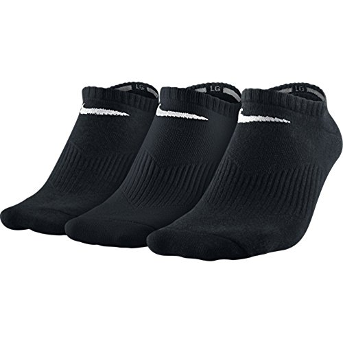 Nike Herren Socken Lightweight No Show 3er Pack, SX4705-001, Schwarz (Black/White), Gr. 42-46 (L)