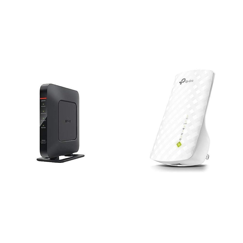 BUFFALO WiFi 無線LAN ルーター WSR-2533DHPL 11ac ac2600 1733+800Mbps デュアルバンド 4LDK 3階建向け 【iPhone8/iPhoneX/iPhoneXS/Amazon Echo メーカー動作確認済み】 & TP-Link WIFI 無線LAN 中継器 11ac/n/a/g/b 433+300Mbps 11ac対応 3年保証 RE200