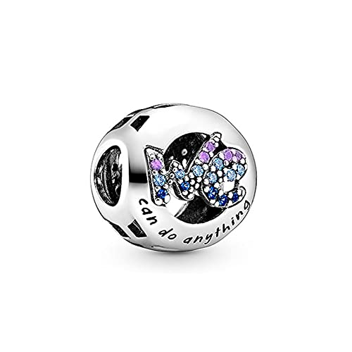 LILANG Pandora 925 Pulsera de joyería de Plata de Ley Real Natural Ninny Rabbit Fit Brazalete Original Encanto Mujeres DIY Regalos