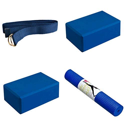 Hello Fit Yoga Starter Kit (Dark Blue)