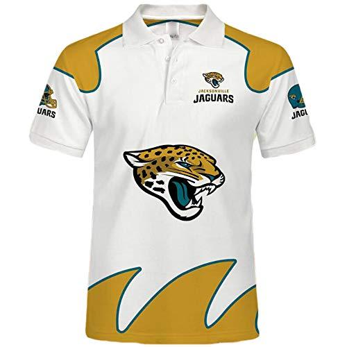 domorebest NFL American Football Jacksonville Jaguars Poloshirt - Jersey Logo Kurzarm Sweatshirt
