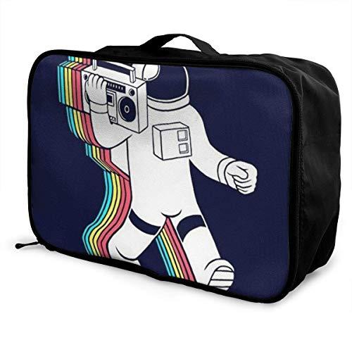 Bolsas de Maleta Astronaut Music DJ Navy Travel Lightweight Waterproof...
