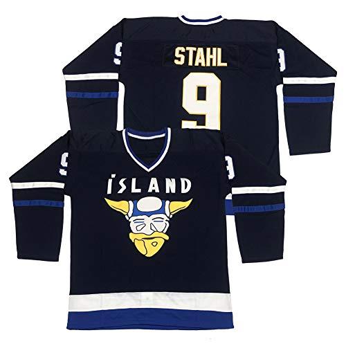 Men's #9 Gunnar Stahl Iceland Island Ice Hockey Jersey Stitched Size L