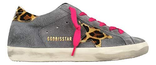 Golden Goose Scarpe Donna Sneaker Superstar Vintage F000190.60249 Grigio (37)