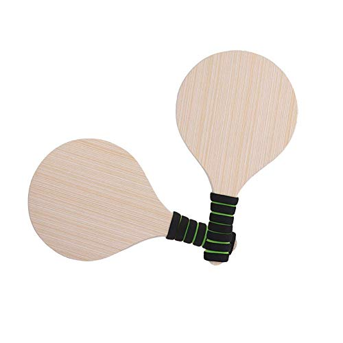 LYXMY Schläger Set Kinder Erwachsene Schaumstoff Griffe Spiel Paddel Ball Kricket Holz Badminton Antirutsch Außen Zubehör Strand Pingpong - Wie Bild Show