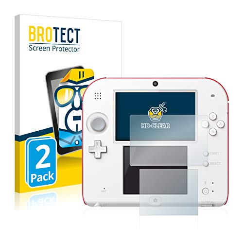 BROTECT Protector Pantalla Compatible con Nintendo 2DS Protector Transparente (2 Unidades)...