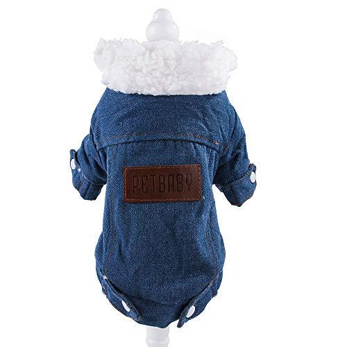 YUECUTE - Abrigo para mascotas en pana, borrego y cachemira, para perros de tamaño pequeño y mediano, estilo vintage