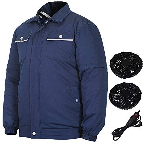 空調服 ファン付き 2色 作業服 空冷 空調 夏 作業着 UC-038 ネイビー M