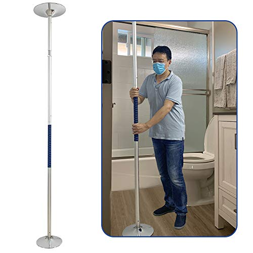 Security Pole Handicap Grab Bars Shower for Seniors Bed Assist Bar Floor to Ceiling Transfer Pole Toilet Safety Rails Bathroom Grab Bars Bathtub Handle Hand Rails Shower Support Standing Poles