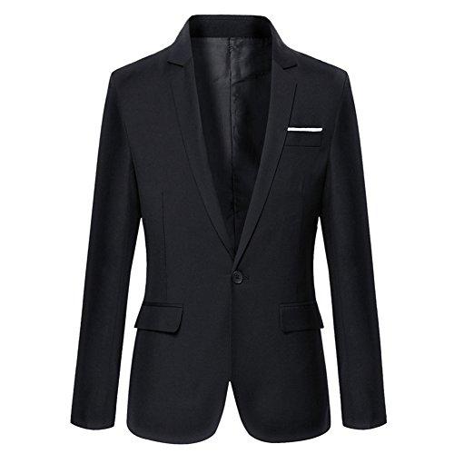 VOBAGA Slim Fit Uomo Casual One Button elegante vestito di affari cappotto giacca grigia Blazers