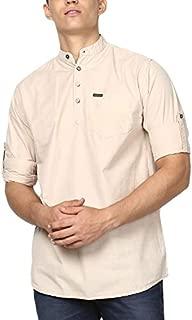 Urbano Fashion Men's Full Sleeve Cotton Shirt with Mandarin Collar