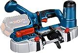 Bosch Professional GCB 18V-63 - Sierra de cinta a batería (18V, ancho de corte 63,5 mm, sin batería, en caja)