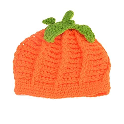 Baby Pumpkin Hat Toddler Beanie Crochet Knitted Cap for Halloween Costume ZMZ02