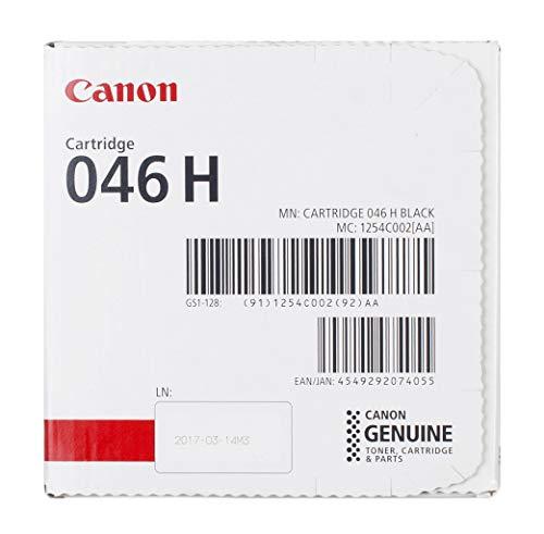 Canon cartucho 046H de tóner original negro para impresoras láser i-SENSYS LBP653Cdw,...