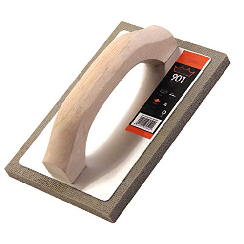 Enlucido Esponja Paleta, Instrumento Para Trabajos Con La Herramienta De Mano Profesional De Calafateo Mango De Madera Esponja Cemento Flotador Pared De Yeso (2 Piezas)
