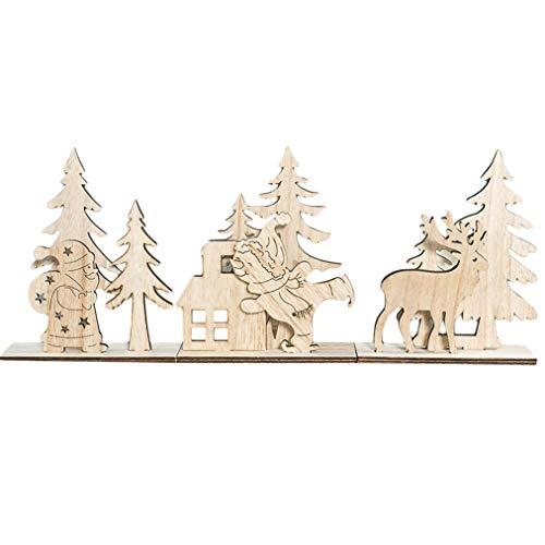 ZYYXB Decoración de mesa de madera de Navidad para decoración de Navidad para niños y adultos