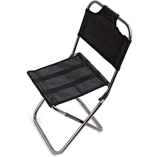 LJQ Silla de Pesca, Portátil, Plegable, para Camping, Senderismo, Muebles al Aire Libre, Jardín, luz de Camping, Playa, sillas