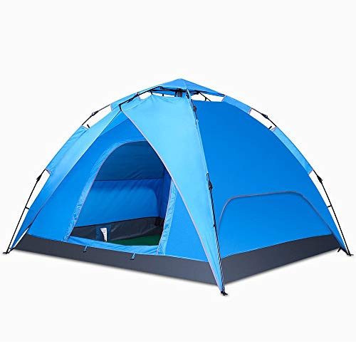 HS-01 Tent Octagon, 3 To 4 Man Festival Tent, Large Dome Tent With Full Standing Head Height, 100% Waterproof Family Camping Tent With Sewn In Groundsheet