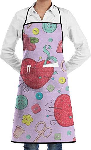 YJWLO Schnittmuster Unisex Küchenschürze Lätzchen mit Taschen zum Kochen, Backen, Basteln, Gartenarbeit, Grillen
