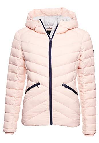 Superdry Damen Ls Essentials Helio Padded Jacket Jacke, Orange (Peach Whip 6SV), L (Herstellergröße:14)