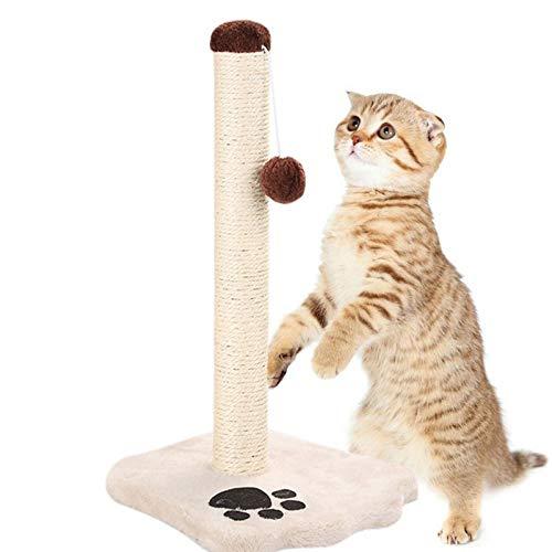 QIZIFAFA Poste Rascador para Gatos, Rascador para Gatos Grandes, Poste Rascador Alto para Gatos, Juguetes Interactivos para Gatos, con Bola De Juguete Burlona, Rascador Vertical