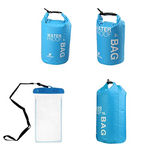 Toygogo - Bolsa Flotante con cordón y Funda Impermeable para teléfono móvil (10 L, 5 L, 2 L), Azul