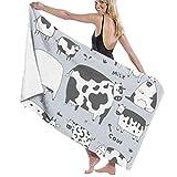 No aplicable Ocean Sunrise Unisex absorbente de secado rápido para el hogar al aire libre grande toalla de baño bebé hogar Wrap toalla, Granja de Vaca Leche, talla única