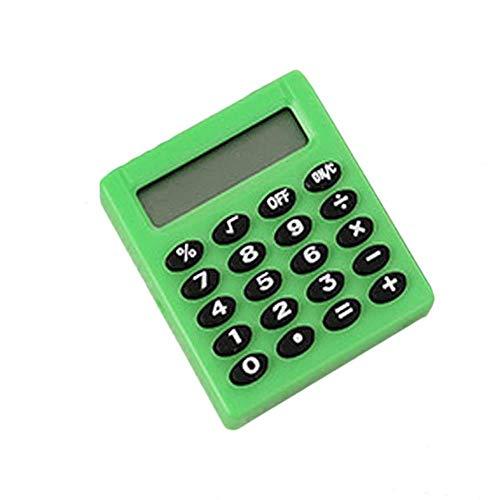 FISH4 Mini tragbare Tasche 8-stellig elektronische Schüler Schulmaterial Münzenbatterien tragen Extras, grün